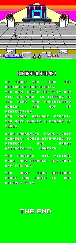 Fin du jeu après la victoire face à Gozer, une fin où les développeurs ne se sobt vraiment pas foulés.